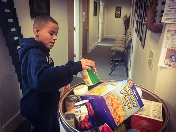 Voice student donates to our food drive