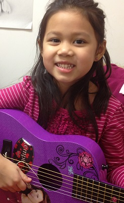 a young guitar student